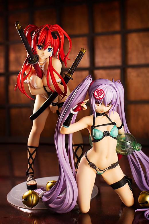 Alter's Yagyu Jubei and Naoe Kanetsugu in swimsuits