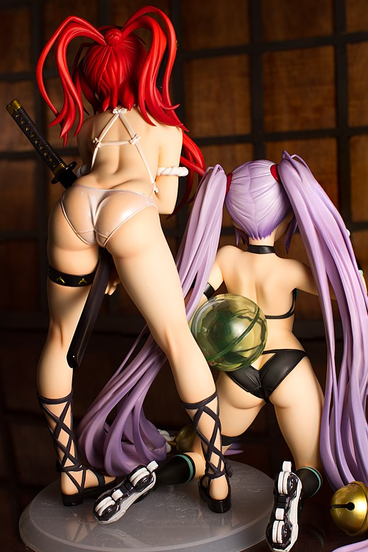 Naoe Kanetsugu and Yagyu Jubei, ass view