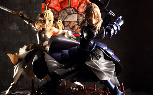 Saber Alter and Saber Lily