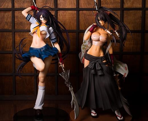 Schoolgirl and miko Kanu