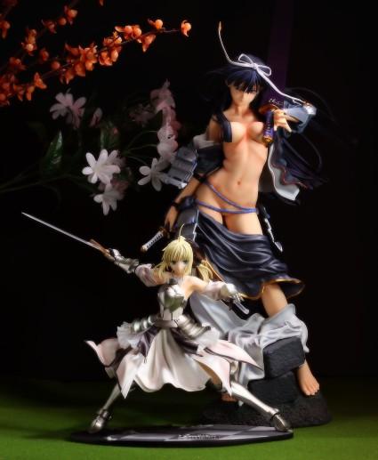 Volks Uesugi Kenshin and Good Smile Company Saber Lily Size Comparison