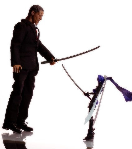 Meiya Mitsurugi throwing down with Barack Obama